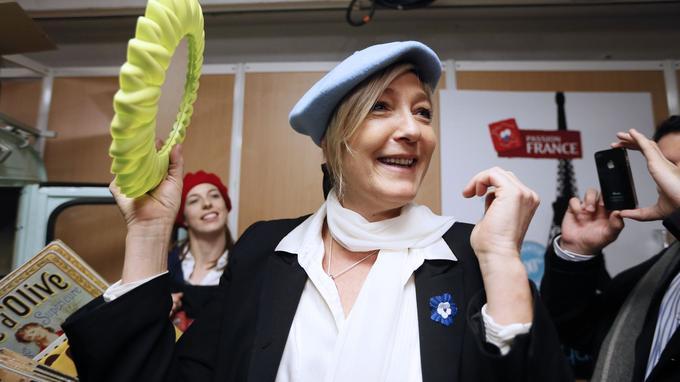 En 2012, Marine Le Pen s'était fait remarquer en arborant un béret dans les allées du Salon du made in France, à Paris.