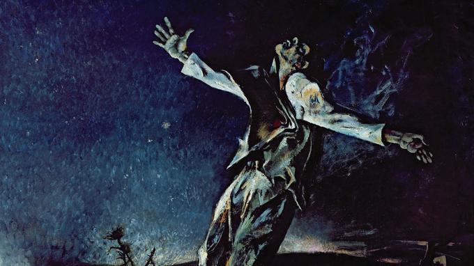 Garcia Lorca, détail du panneau droit du <i>Triptyque espagnol</i> d'Andrei Mylnikov (1979).
