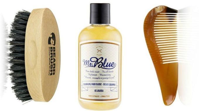 De gauche à droite, brosse en bois de hêtre à poils de sanglier, <a href=
