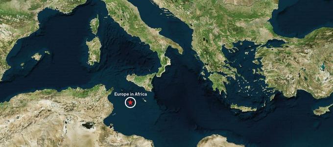L'île se situerait à la frontière entre les zones économiques italienne et tunisienne.
