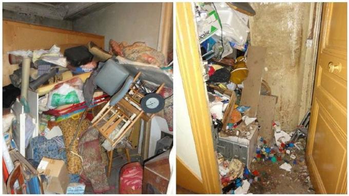 Photos prises par la ville de Paris lors d'une intervention dans un appartement du XVIIe arrondissement en 2010. L'occupante de cet appartement avait fait l'objet d'une hospitalisation à la demande d'un tiers.