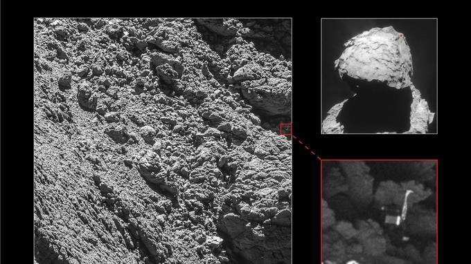 Une photo de l'atterrisseur Philae capturée par la caméra Osiris le 2 septembre 2016 - ESA/Rosetta/MPS for OSIRIS Team