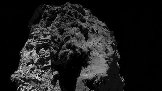Un des derniers clichés de la comète Tchouri pris le 20 septembre par la caméra Osiris de la sonde Rosetta -ESA/Rosetta/MPS for OSIRIS Team MPS/UPD/LAM/IAA/SSO/INTA/UPM/DASP/IDA