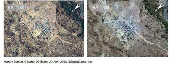 Des photos aériennes montrent les destructions survenues dans certains villages.