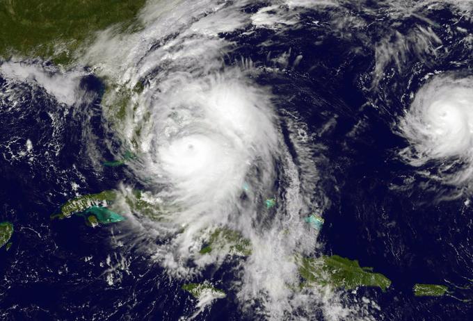 Image satellite du 6 octobre 2016, montrant l'ouragan Matthew.