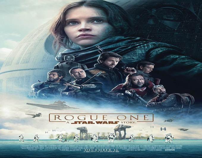 L'affiche officielle de <i>Star Wars: Rogue One</i>