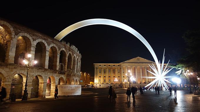 Les arènes de Vérone accueillent le festival de la nativité dans l'art. ©DR