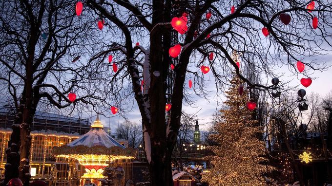 Pour Noël, Copenhague se pare de lumière. © Kim Wyon-VisitDenmark