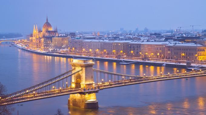 Une vision féérique de la ville de Budapest au cœur de l'hiver. ©DR