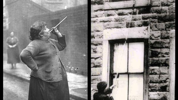 En Grande Bretagne, ces personnes étaient appelées les «knocker-upper.»