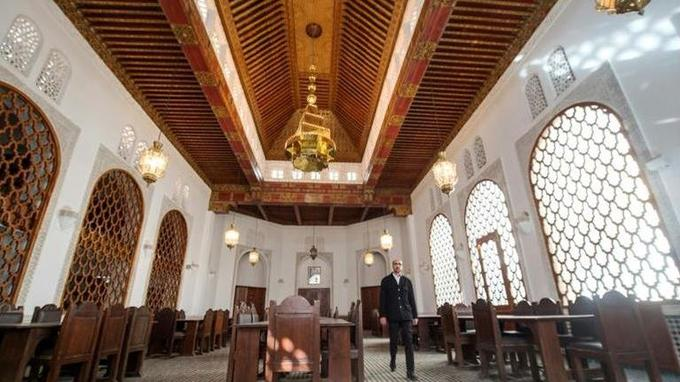 Salle de lecture de la bibliothèque al-Quarayouine, afp.com - FADEL SENNA