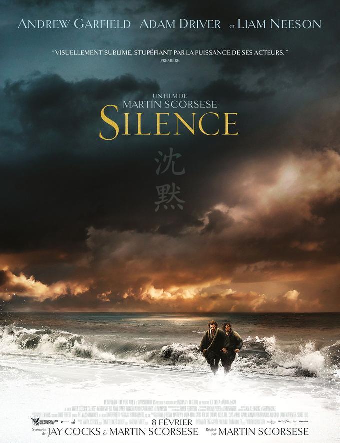 L'affiche française de <i>Silence</i>.