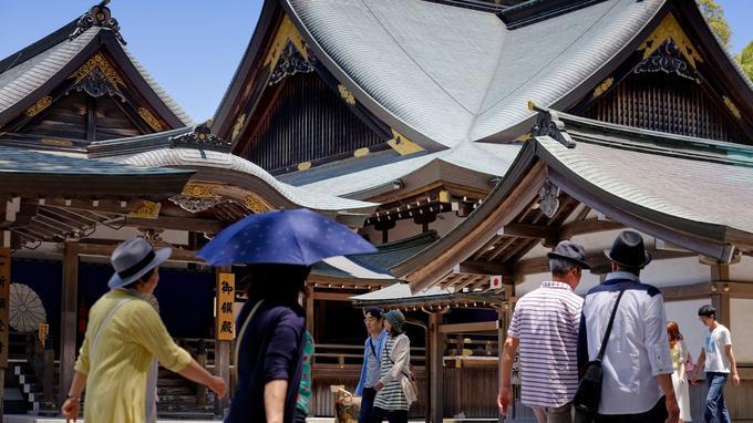 La ville d'Ise-Jingu, un lieu considéré comme le plus sacré de la religion shintoïste.