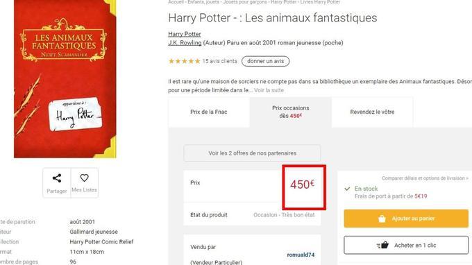 Capture écran d'un livre vendu sur Fnac.com