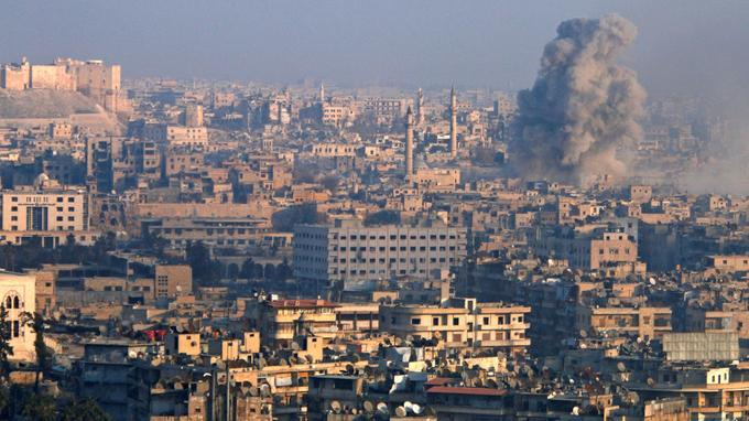 Alep, lundi 12 décembre.