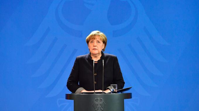 La chancelière allemande a pris la parole mardi matin, au lendemain de l'attaque.