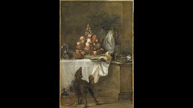 Jean-Baptiste Siméon Chardin, «Le Buffet», huile sur toile, 1728, Paris, musée du Louvre.