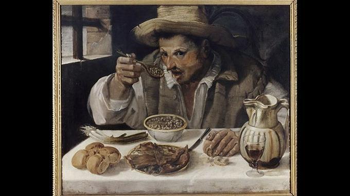 Annibal Carrache, «Le Mangeur de haricots», huile sur toile, 1584, Rome, Galleria Colonna.