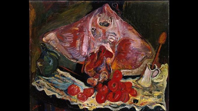Chaïm Soutine, «La Raie», huile sur toile, vers 1924, New York, the Metropolitan Museum of Art.