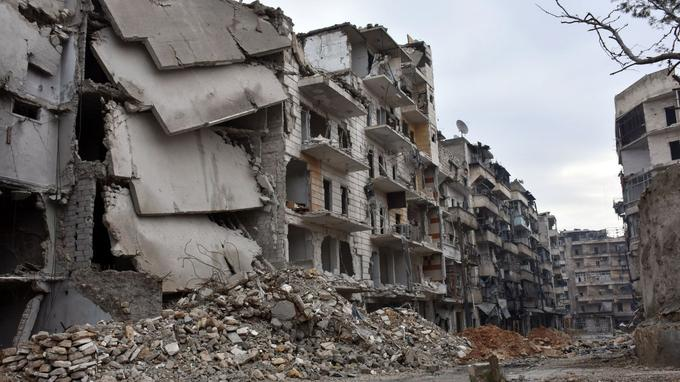 Le quartier de Sukkari, dans le nord d'Alep, auparavant détenu par les rebelles.