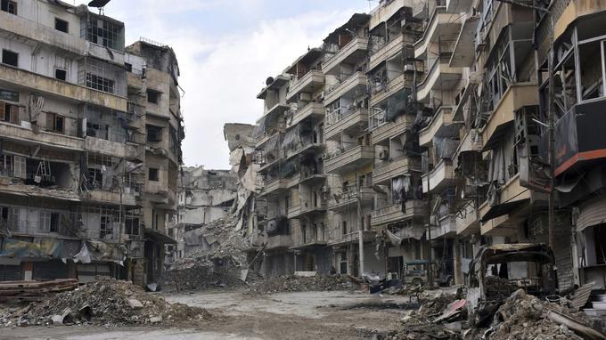 Le quartier Sukkari a été partiellement détruit, depuis 2011.