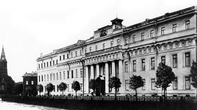 Le Palais Youssopov à Saint-Pétesbourg (ex-Pétrograd): c'est ici que Raspoutine trouva la mort le 29 décembre 1916.