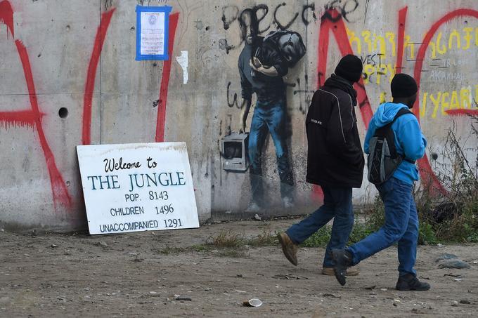 Le 24 octobre 2016 à l'entrée de la «jungle» de Calais.