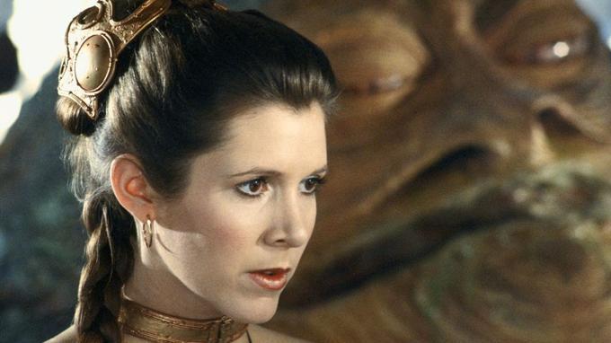 Carrie Fisher dans Le Retour du Jedi (1983)
