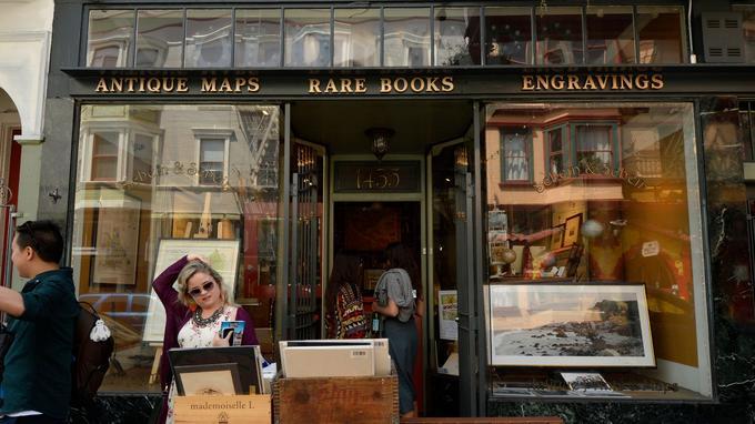 Dans un quartier bohème de San Francisco , Schein & Schein, une fabuleuse boutique de cartes antiques.