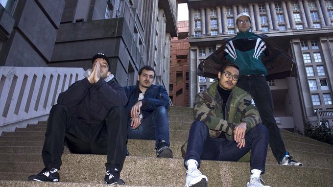 Le quatuor de Contrefaçon: MandelBoy, Mike Doe, Junk8 et Antipop.