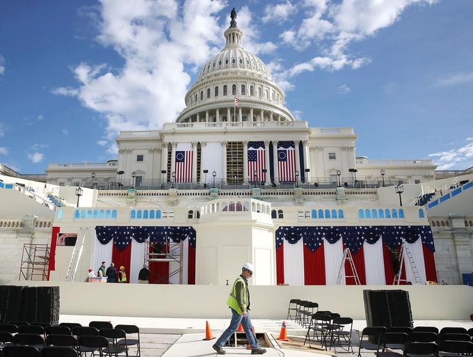La prestation de serment aura lieu sur les marches du Capitole, face à la foule rassemblée sur le Mall.
