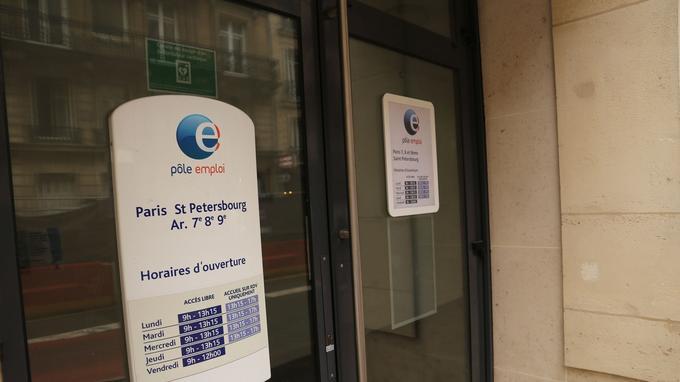 L'agence Pôle emploi, située rue de Saint-Pétersbourg, dans le VIIIe arrondissement de Paris.