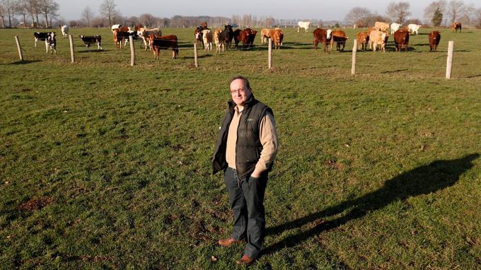 Après la colère, la reconversion. Ex-éleveur laitier, Yannick Bodin a vendu son cheptel pour se lancer dans la viande bovine.