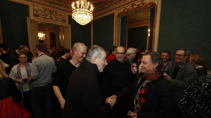 Le lundi 30 janvier lors de la remise des prix Plaisir du Théâtre-Marcel Nahmias et Jean-Jacques Gautier-Plaisir du Théâtre.