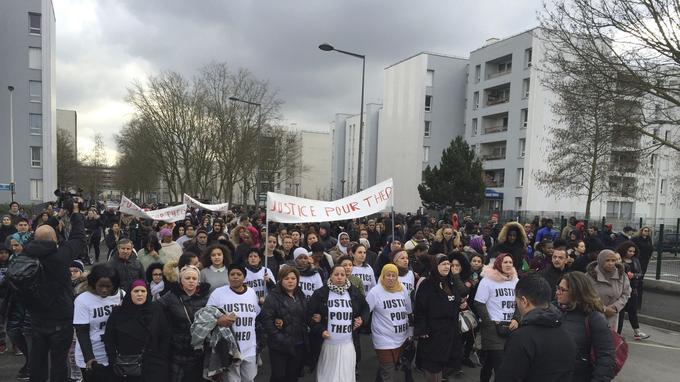 La marche, à Aulnay-sous-Bois, le 6 février 2017.
