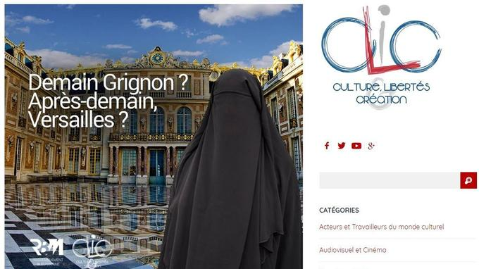 Capture d'écran du site du Clic, think-tank culturel du Front national.