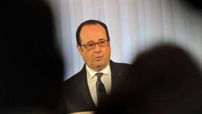 François Hollande, lors d'un déplacement hier à Chartres.
