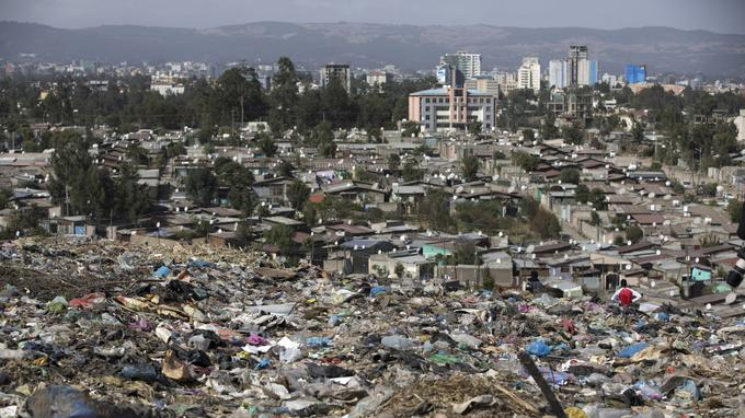 Vue d'Addis-Abeba,