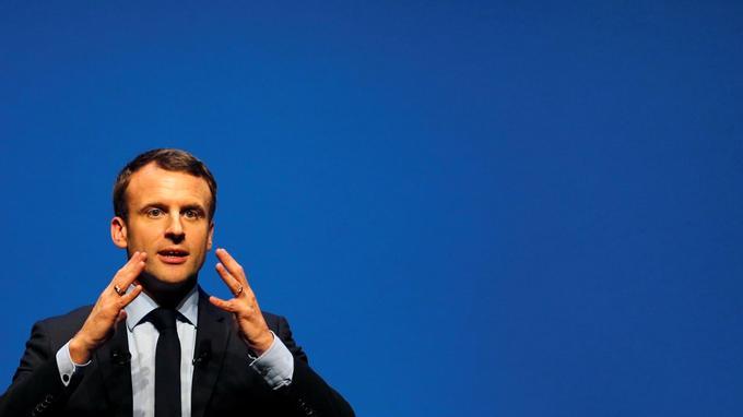 Emmanuel Macron en meeting la semaine dernière en Gironde.