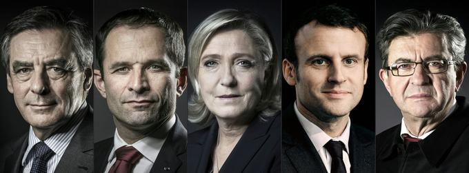 Cinq des huit candidats ayant déjà franchi le seuil des 500 signatures: François Fillon, Benoît Hamon, Marine Le Pen, Emmanuel Macron et Jean-Luc Mélenchon.