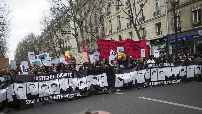 Les manifestants ont marché de la place de la Nation à celle de République.