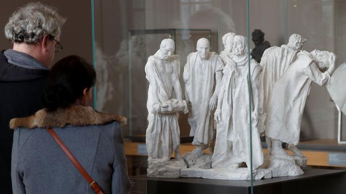 <i>Les Bourgeois de Calais</i> fait partie des oeuvres exposées au Grand Palais.