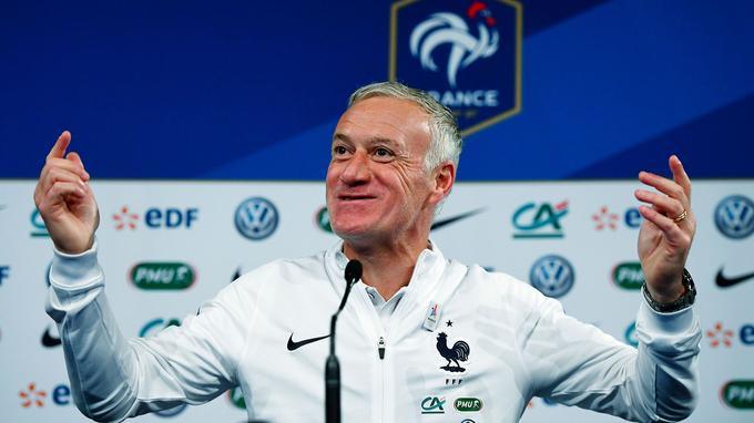 L'entraîneur de l'équipe de France Didier Deschamps, hier.