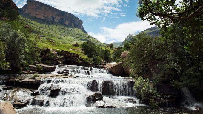 Les cascades du Parc national de Royal Natal (baignade autorisée… et conseillée).