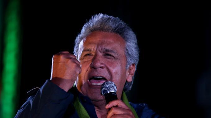 Lenine Moreno, dauphin du président sortant Rafael Correa.