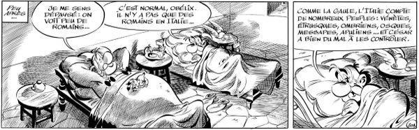 Obélix et Astérix découvre les différentes tribus italiennes...