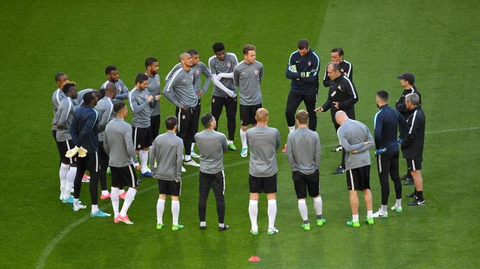 Les joueurs de Monaco hier à l'entraînement.