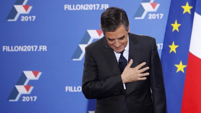 François Fillon au soir de sa victoire à la primaire de la droite.
