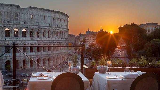 Vue sur le Colisée. (Aroma Restaurant/Facebook)