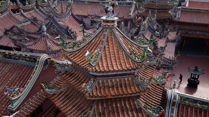 Bouddhisme et taoïsme font bon ménage dans les temples de Taïwan (ici, celui de Nankunshen, sur la côte occidentale).